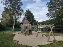 Wooden Playground On In The Pa...
