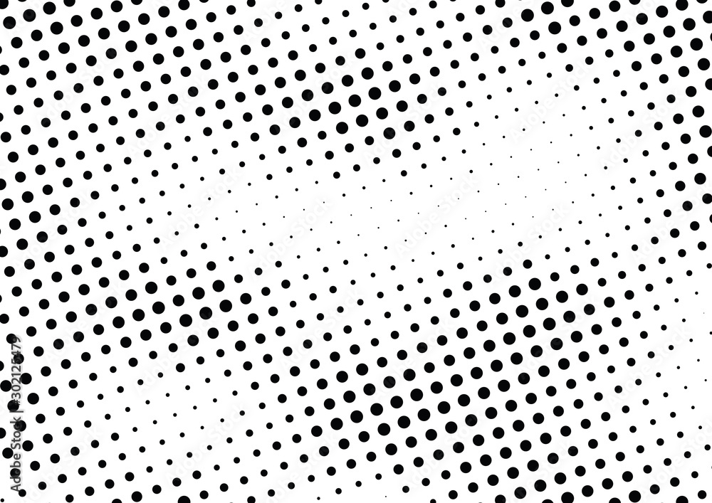 Fototapeta Abstract halftone dotted background. Monochrome pattern with dot and circles.  Vector modern futuristic texture for posters, sites, business cards, cover postcards, interior design, labels, stickers.