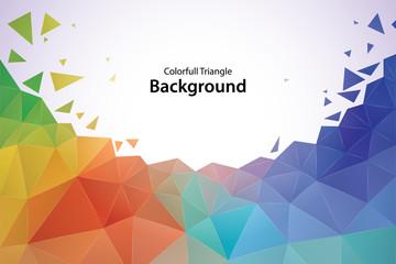 Kolorowe tło geometryczne trójkąt