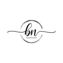 BN Initial Handwriting Logo Wi...
