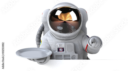 Fun astronaut - 3D Illustration Canvas Print