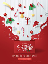 Merry Christmas Sale Banner Ba...
