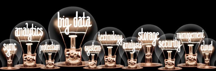 Light Bulbs with Big Data Concept