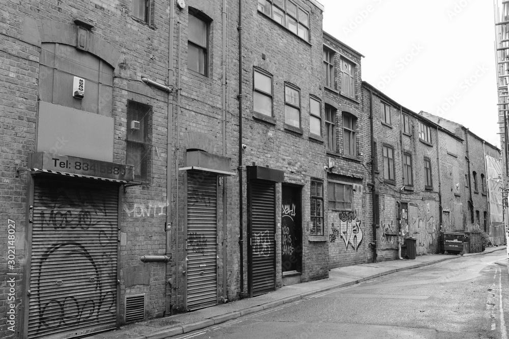 Fototapeta Back Street of Northern Quarter, Manchester