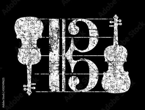Obraz Alto Clef Violas (Vintage White) - fototapety do salonu