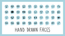 Hand Draw Face Emoji With Diff...