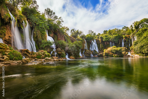 Garden Poster Forest river Kravice waterfall in Bosnia and Herzegovina