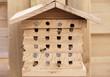 Bienenhaus Bienenhotel Bienen bees Wildbienen Holz Haus Löcher Natur Garten Brut brüten Eingang verschließen