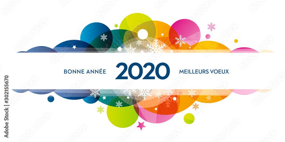 Fototapety, obrazy: 2020-carte-de-voeux-COLORS-flocons