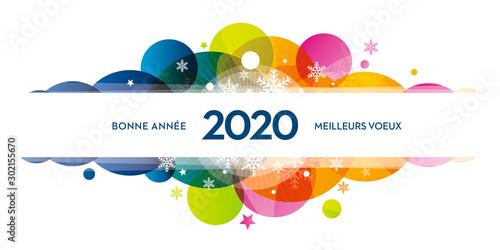 2020-carte-de-voeux-COLORS-flocons Wallpaper Mural