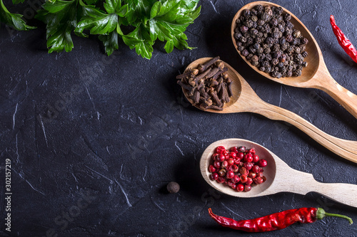 Obraz Image with spices. - fototapety do salonu