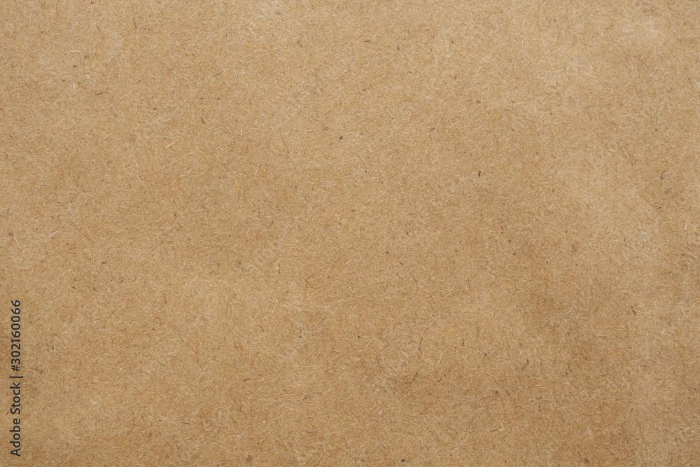 Fototapeta Old brown eco recycled kraft paper texture cardboard background