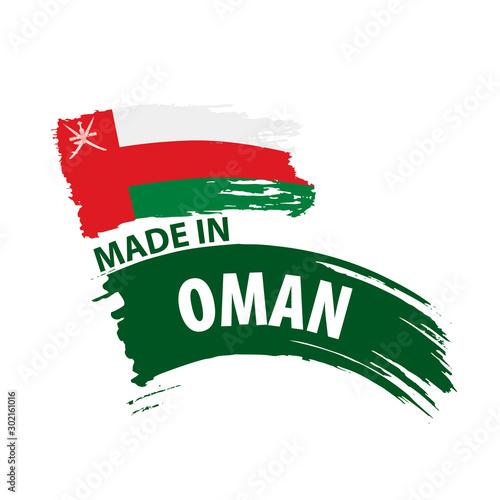 Fototapeta Oman flag, vector illustration on a white background obraz