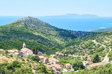 Panoramatic View Of Hvar Isla...