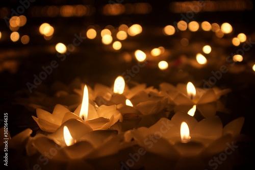 Foto  Candle of Loy Krathong festival