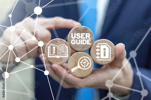Obraz na plátně User Manual Guide Business Service Communication Internet Technology Concept