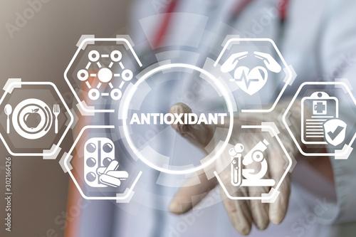 Fototapeta Natural Antioxidants Nutrition Diet Treatment Medical Innovative Concept. obraz