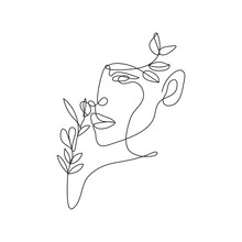 Continuous Line Drawing Woman ...
