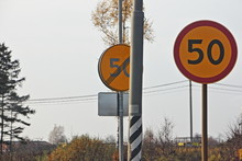 Road Signs Speed Limit 50 And ...