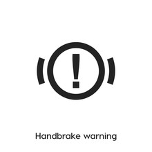Handbrake Warning Icon. Handbr...