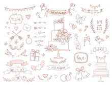 Set Of Wedding Illustrations A...