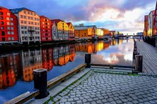Trondheim City, Norway.