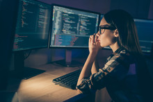 Photo Of Serious Concentrated Smart Clever Developer Writing Code For New Video Game To Be Released Soon Having To Complete Deadlines Till Morning