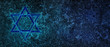 canvas print picture - Jewish Holiday. Star of David with bleu background. Jewish holiday Hanukkah. Illustration.