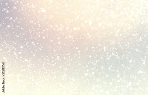 Obraz Light snow on pastel subtle background. Bright yellow pearl shiny texture. Delicate winter simple pattern. - fototapety do salonu