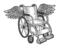 Wheelchair With Wings Sketch E...