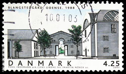 Fotografia  Postage stamp printed in Denmark shows Blangstedgard, Odense 1988 (Poul Ingemann