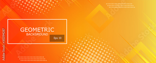 soft and dark orange with yellow abstract gradient geometric shapes backround, shine and smooth with futurisctic and modern template, vector
