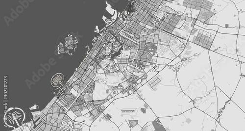 Fényképezés  Detailed map of Dubai, UAE