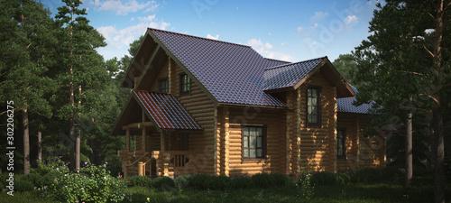 Obraz Cottage beamed. Wooden. - fototapety do salonu