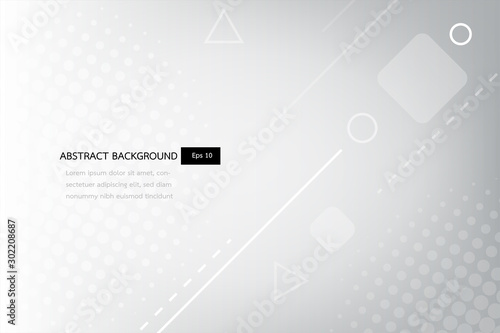 Foto white and grey abstract gradient geometric shapes backround, shine and smooth circle with futurisctic and modern template