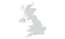 United Kingdom Map Vector, Isolated Background. Flat Earth, Gray Map Template For Web Site Pattern, Anual Report, Inphographics. Map Icon. Travel Worldwide, Map Silhouette Backdrop