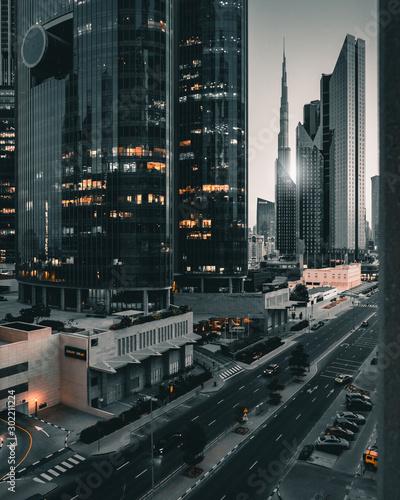 Fond de hotte en verre imprimé Dubai DIFC Dubai 2