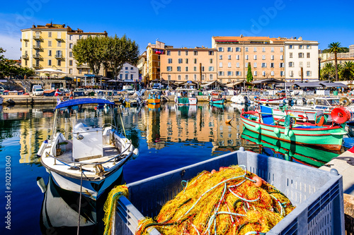 Recess Fitting Mediterranean Europe old town and harbor of ajaccio on corsica