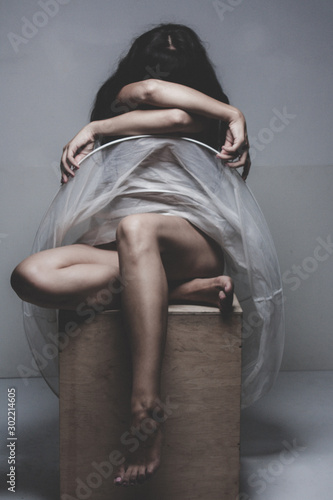abstract image of a figure Wallpaper Mural