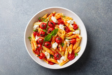 Pasta Penne With Roasted Tomat...