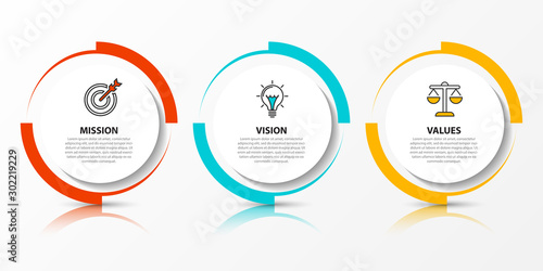 Cuadros en Lienzo Infographic design template. Creative concept with 3 steps