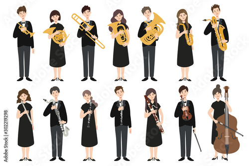 A group of people holding a musical instrument