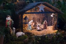 Christmas Creche With Joseph M...