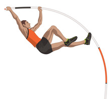 Male Pole Vaulter, Vaulting In...