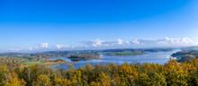 Panorama Von Der Talsperre Pöhl Vogtland Im Herbst