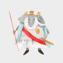 Watercolor Vector Mouse Rat King From Christmas Fairy Tale Nutcracker Ballet Baby Illustration