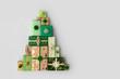 Leinwanddruck Bild - Christmas tree made from Christmas gifts