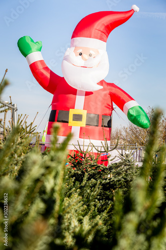 Santa Claus figure on Christmas tree sale