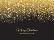 Merry Christmas and New Year background. Gold glitter decoration