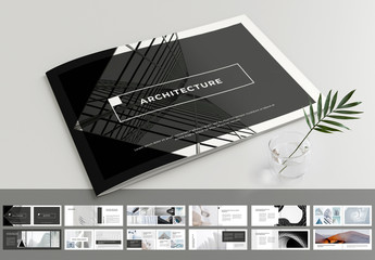 Fototapeta na wymiar Brochure Layout with Gray Accents